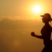 Women with a healthy gut running