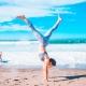 cartwheeling health woman
