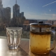 Ginger tea in glass